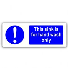 This Sink is for Hand Wash Only Sign-Aluminium Metal-Notice,Health,Hygiene,Bathroom,Toilet,Safety
